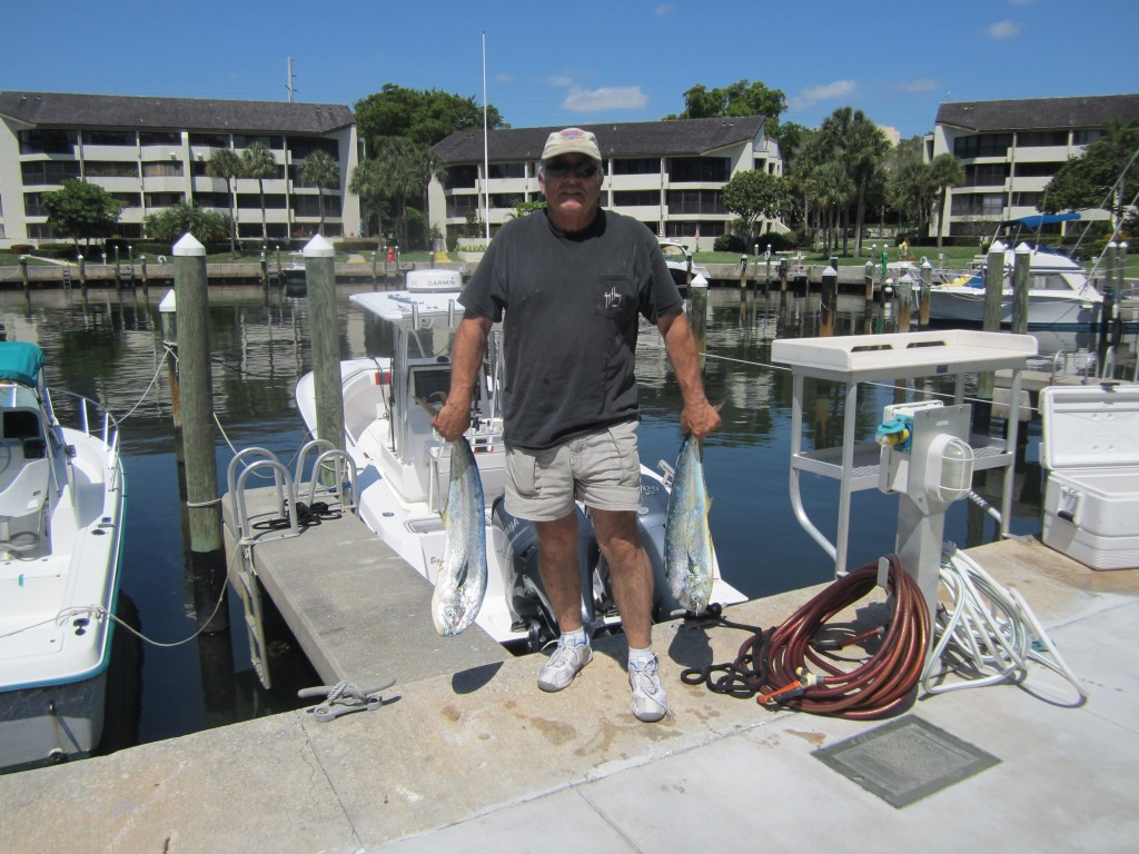 Lou Graf in West Palm Beach slaying the dolphin