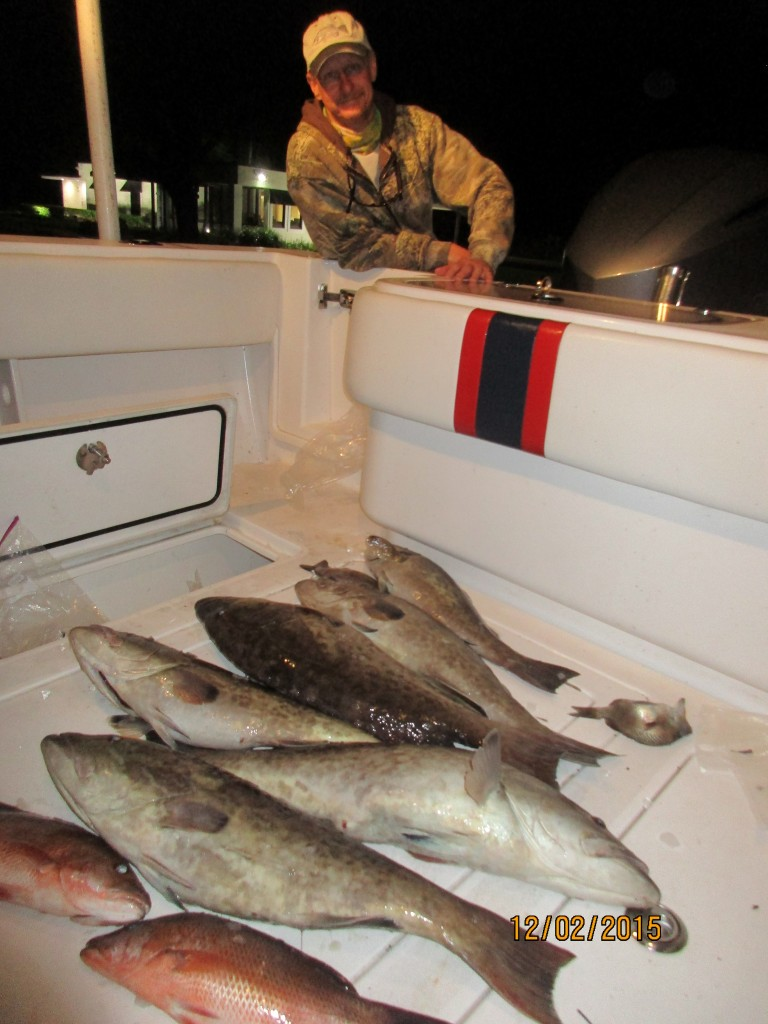Fruits of a good day of grouper fishing